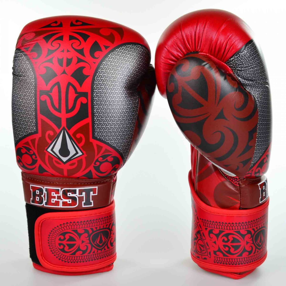Luvas Boxe / Muay Thai - Maori - Best Defense - Vermelho - 10/12/14OZ .