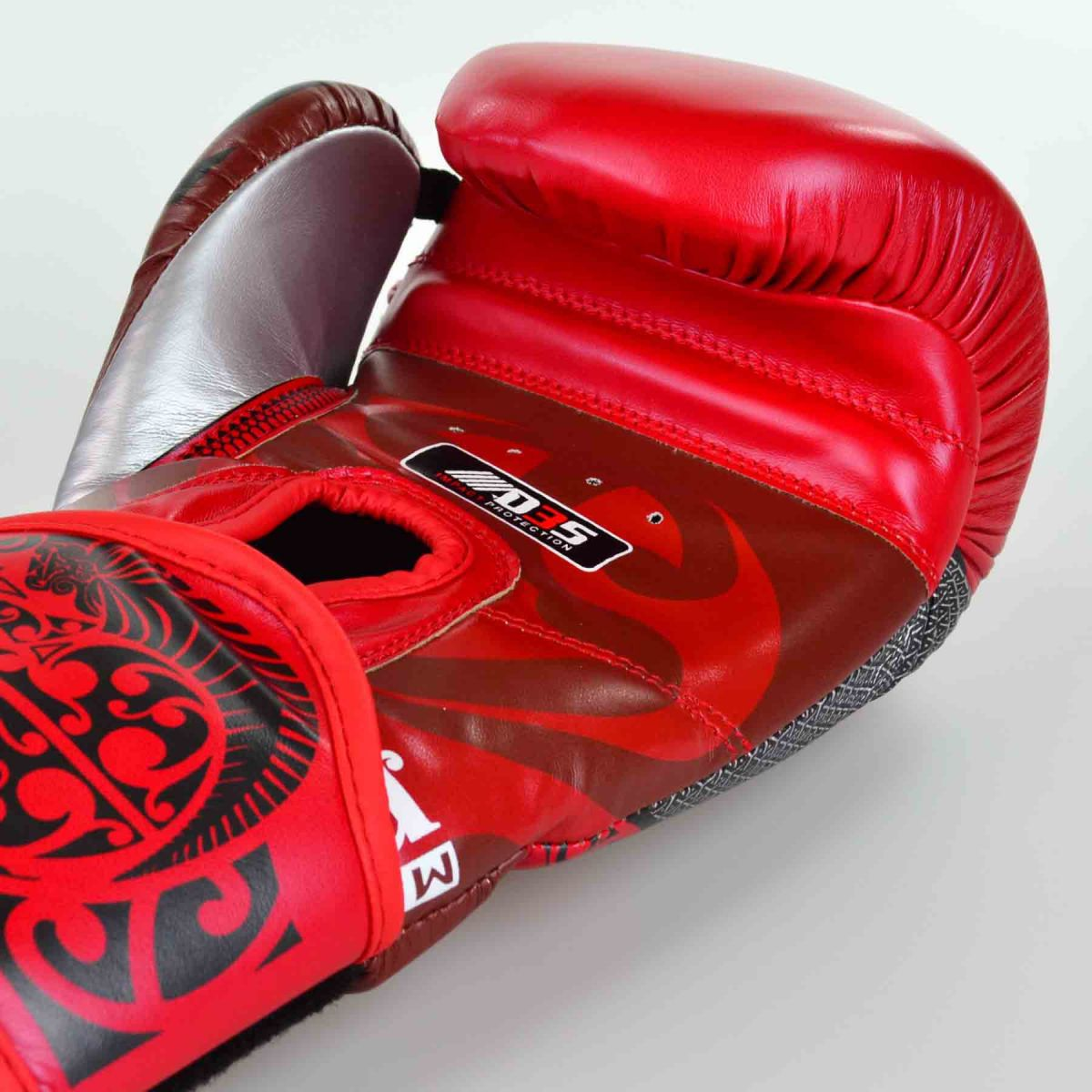 Luvas Boxe / Muay Thai - Maori - Best Defense - Vermelho - 10/12/14OZ .  - Loja do Competidor