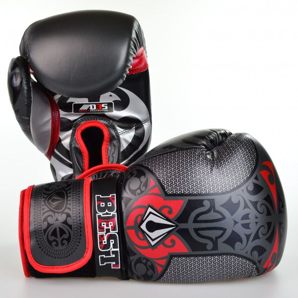 Luvas Boxe / Muay Thai - Maori - Best Defense - Preto - 10/12/14OZ .