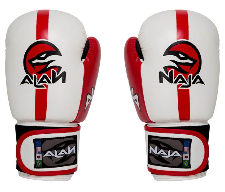Luvas Boxe / Muay Thai -  Naja Classic - Branca - 12/14/16 OZ