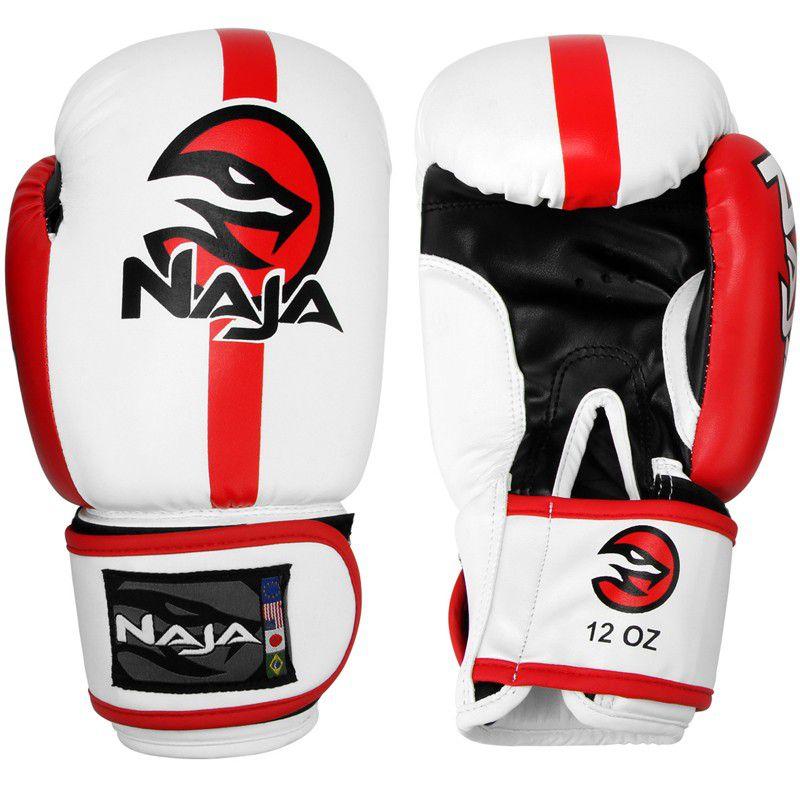 Luvas Boxe / Muay Thai -  Naja Classic - Branca - 12/14/16 OZ  - Loja do Competidor