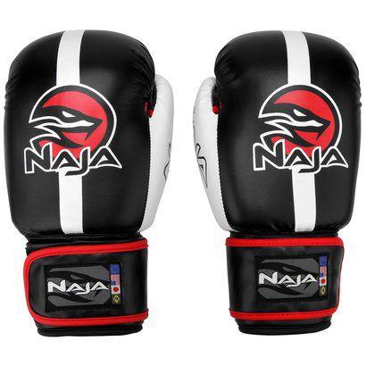Luvas Boxe / Muay Thai -  Naja Classic - Preto - 10/12/14 OZ .