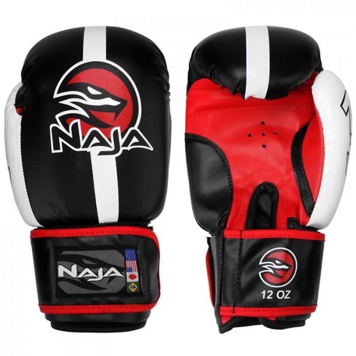 Luvas Boxe / Muay Thai -  Naja Classic - Preto - 10/12/14 OZ .  - Loja do Competidor