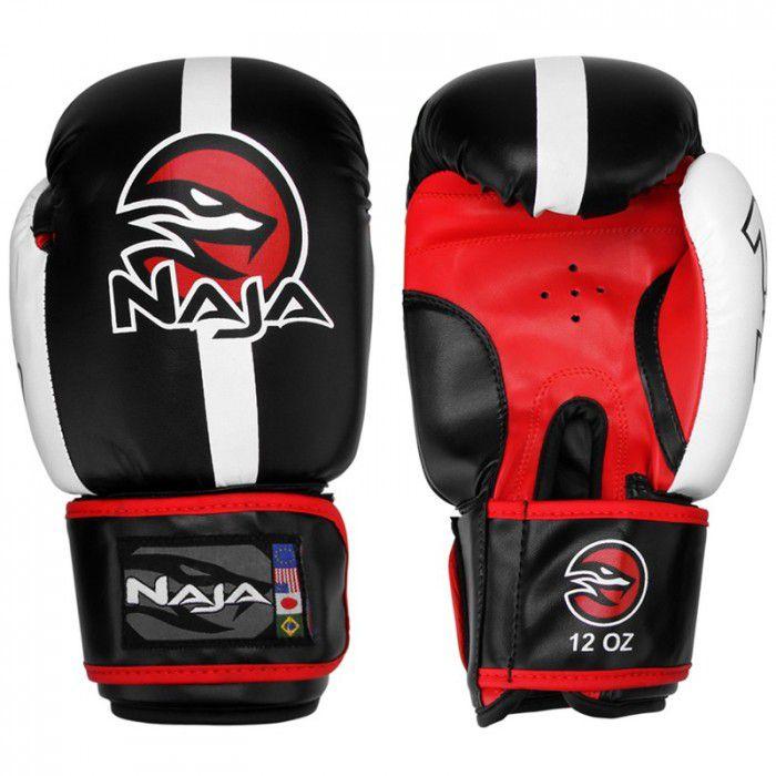 Luvas Boxe  Muay Thai -  Naja Classic - Preto - 10/12/14 OZ -  - Loja do Competidor