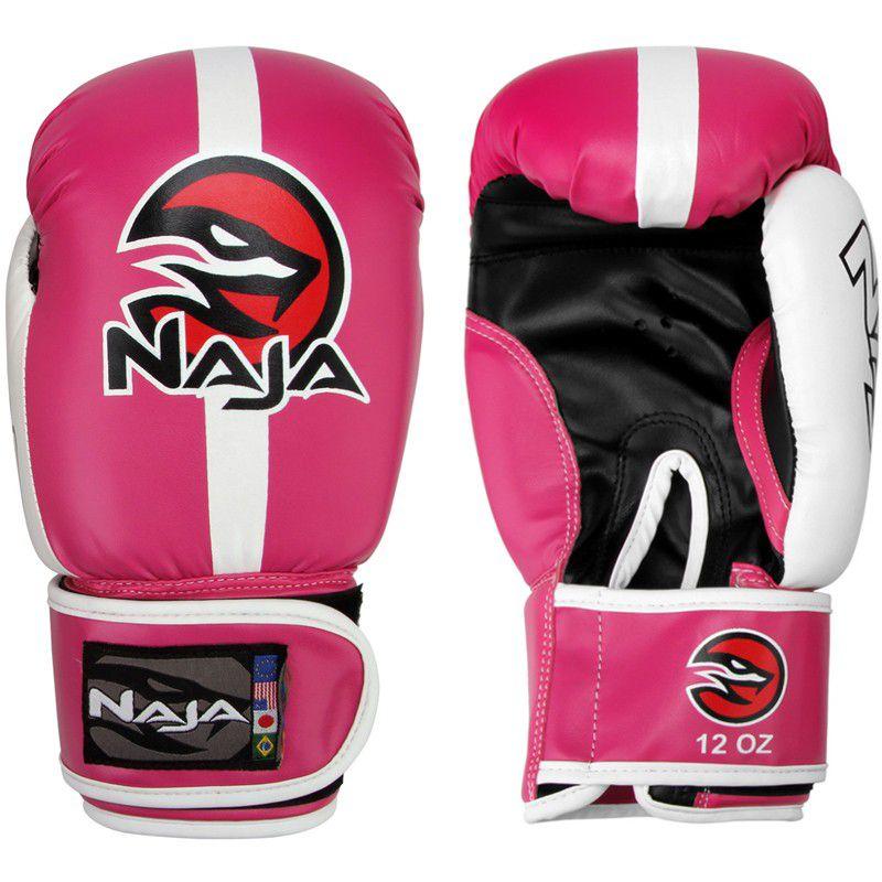 Luvas Boxe / Muay Thai -  Naja Classic - Rosa - 10/12/14 OZ