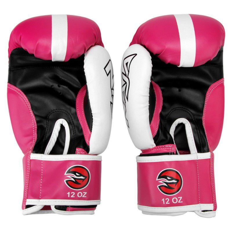 Luvas Boxe / Muay Thai -  Naja Classic - Rosa - 10/12/14 OZ -  - Loja do Competidor