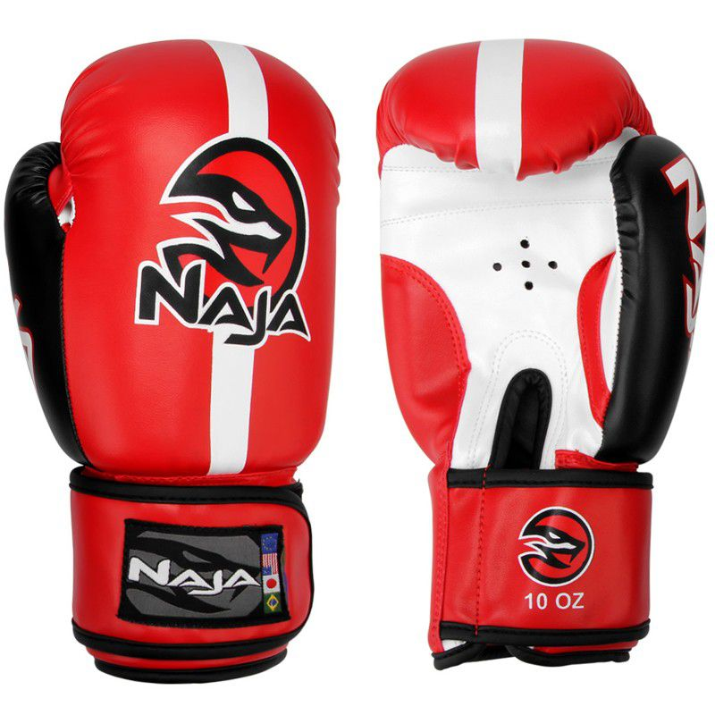Luvas Boxe / Muay Thai -  Naja Classic - Vermelha - 10/12/14 OZ .