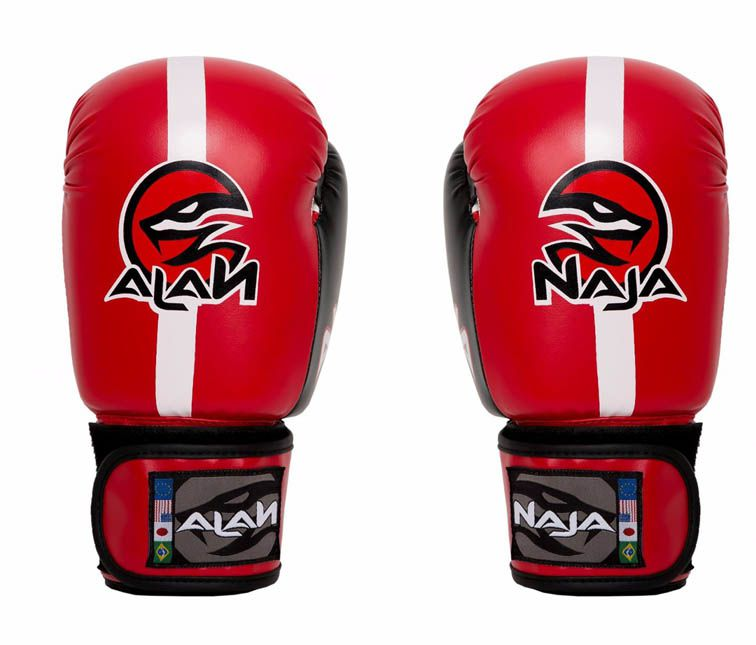 Luvas Boxe / Muay Thai -  Naja Classic - Vermelha - 10/12/14 OZ .  - Loja do Competidor
