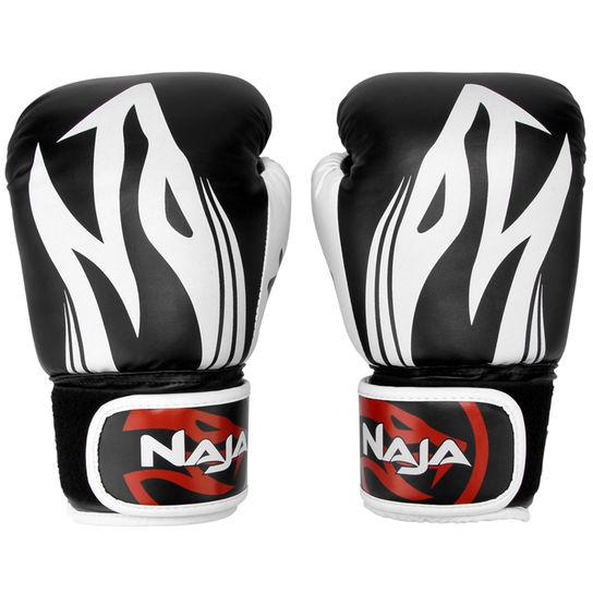Luvas Boxe / Muay Thai - Naja Extreme com Bandagem - Preto - 12/14 OZ .  - Loja do Competidor