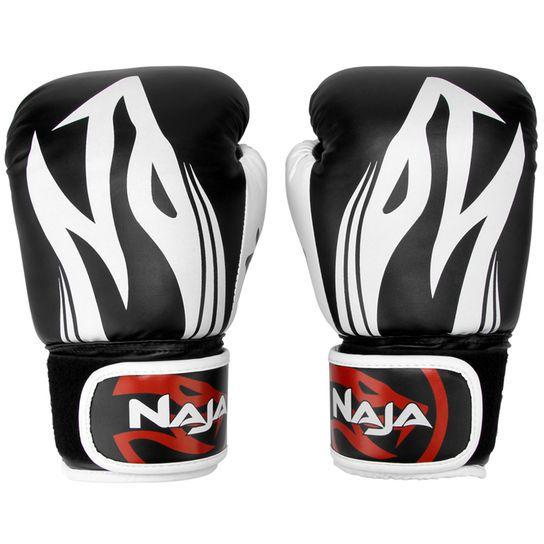 Luvas Boxe Muay Thai - Naja Extreme com Bandagem - Preto - 12/14 OZ .  - Loja do Competidor