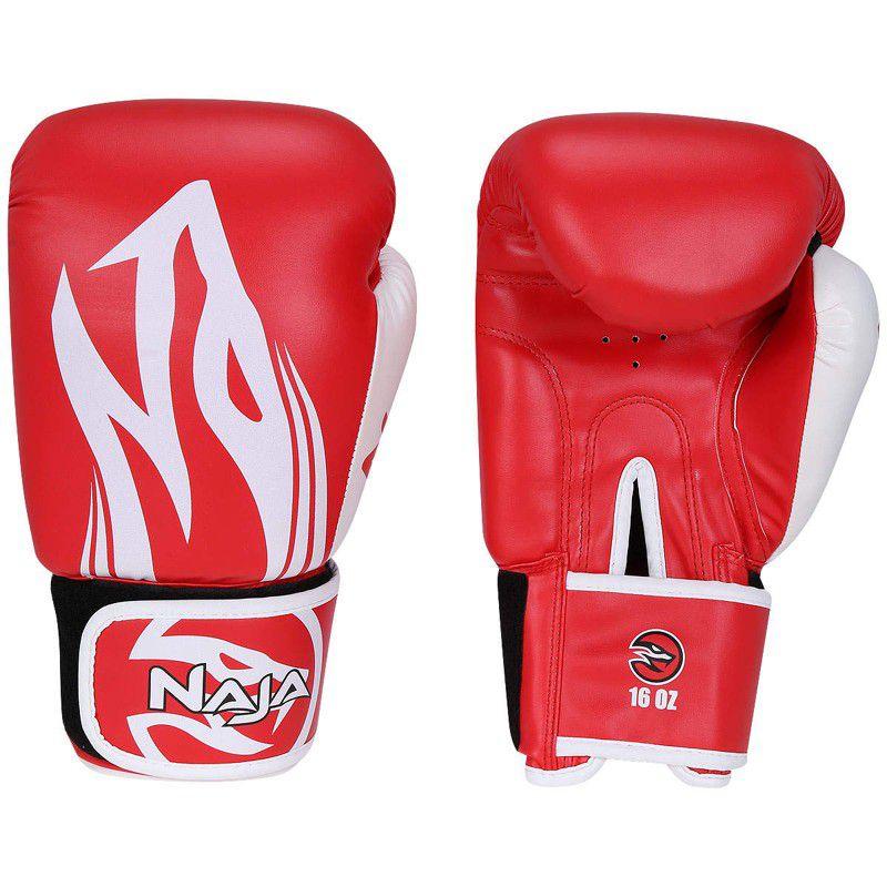 Luvas Boxe / Muay Thai - Naja Extreme com Bandagem - Vermelho - 12/14 OZ .  - Loja do Competidor