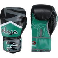 Luvas Boxe / Muay Thai - Naja New Extreme - Preto/Verde - 12/14 OZ -