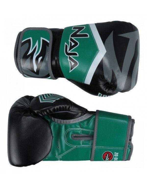 Luvas Boxe / Muay Thai - Naja New Extreme - Preto/Verde- 12/14 OZ  - Loja do Competidor