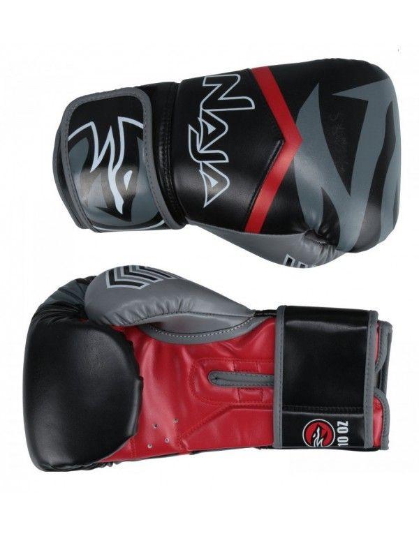 Luvas Boxe / Muay Thai - Naja New Extreme-  Preto/Vermelho- 12/14 OZ  - Loja do Competidor