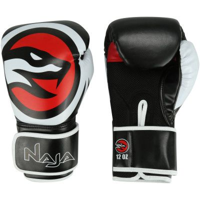 Luvas Boxe / Muay Thai - Naja OPP-  Preto- 12/14/16 OZ