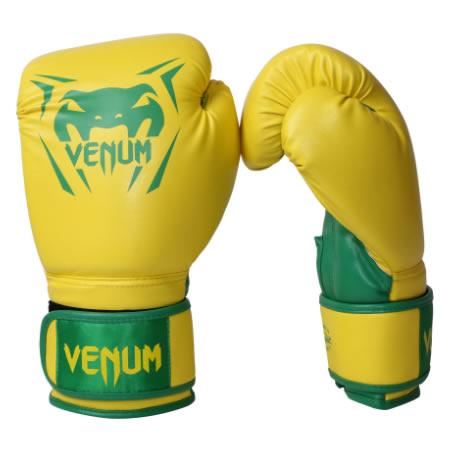 Luvas Boxe / Muay Thai -  New Contender - Amarelo - Venum .  - Loja do Competidor