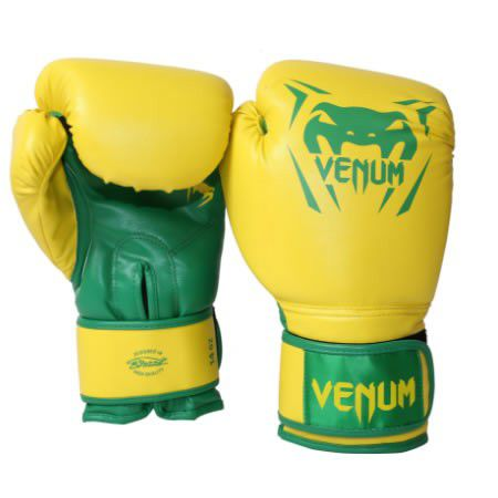 Luvas Boxe / Muay Thai -  New Contender - Amarelo - Venum -  - Loja do Competidor