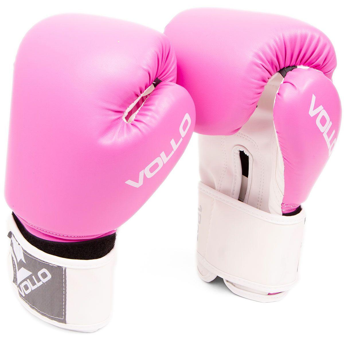 Luvas de Boxe / Thai - Combat - Rosa - 14 Oz - Vollo