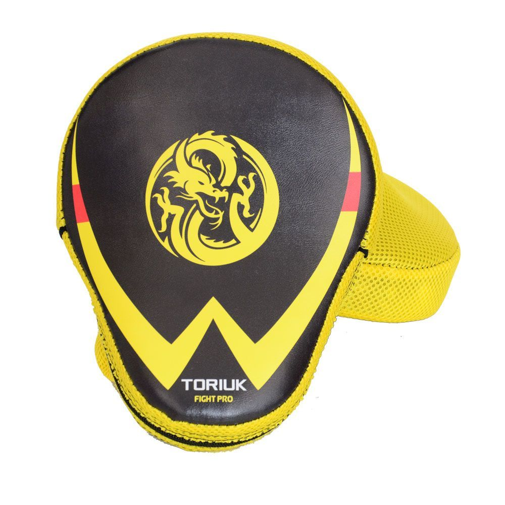 Luvas de Foco / Manopla de Soco - New Fight - Dragão Amarelo - Par- Toriuk