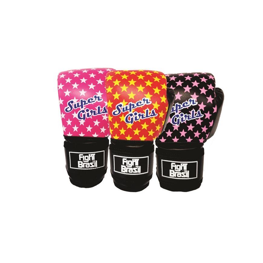 Luvas de Kick Boxe Muay Thai - Infantil - Super Girls - 04 Oz