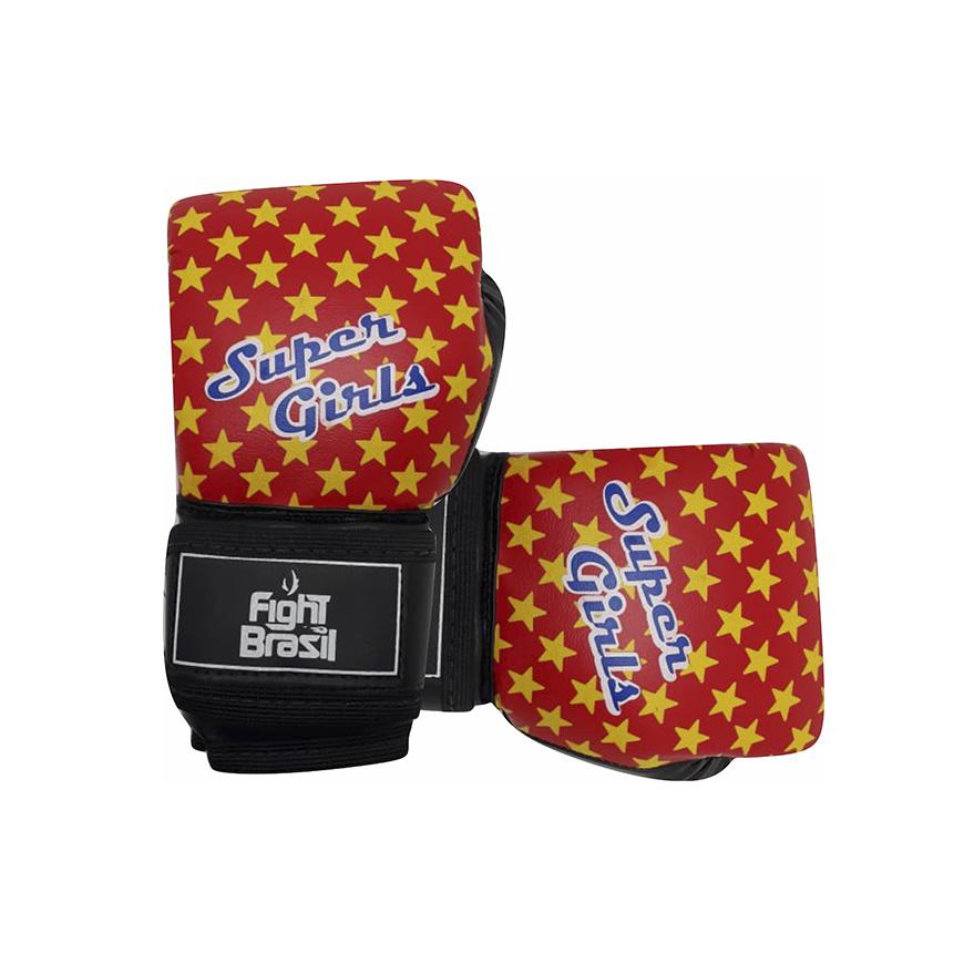Luvas de Kick Boxe Muay Thai - Infantil - Super Girls - 04 Oz  - Loja do Competidor