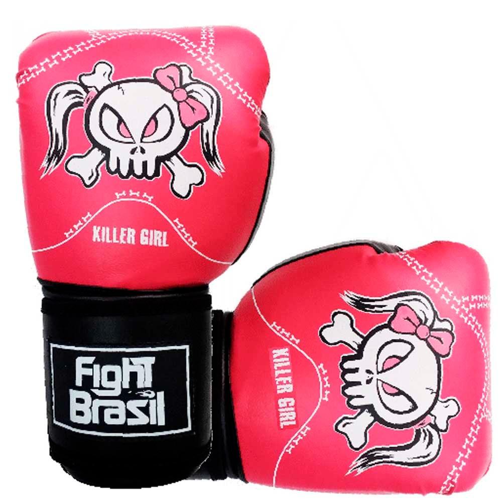 Luvas de Kick Boxe Muay Thai - Killer Girl - Rosa  - Loja do Competidor
