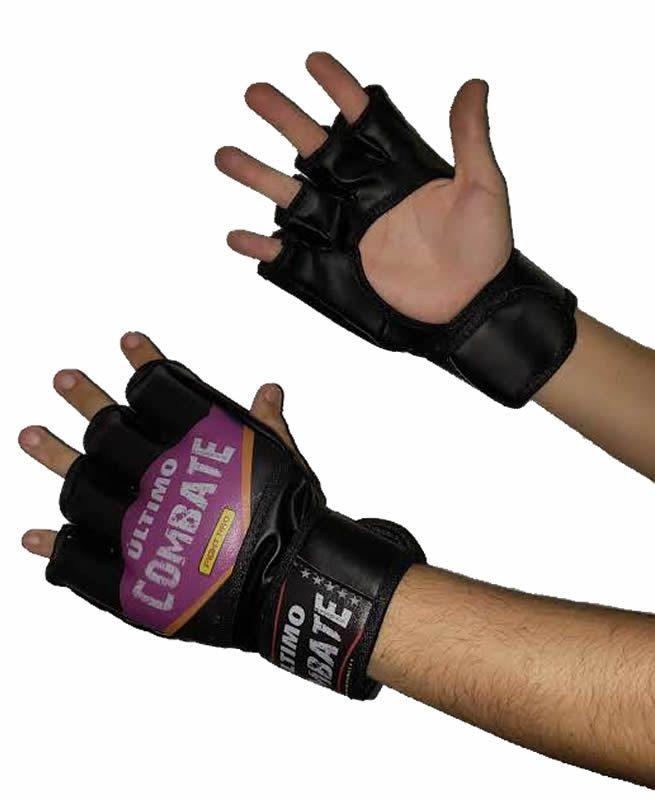 Luvas MMA e Grappling - Fight Pro - Bat Purple - Sem Polegar