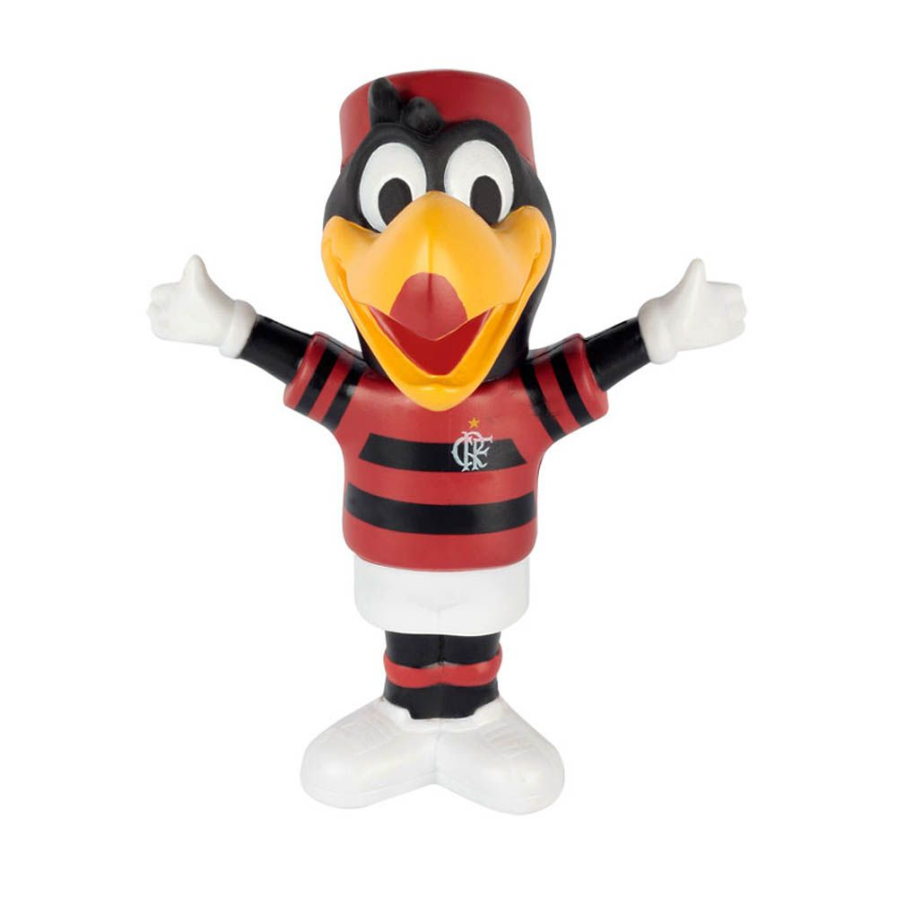 Mascote de Plástico - Oficial - Flamengo - 15x20 cm - Mania