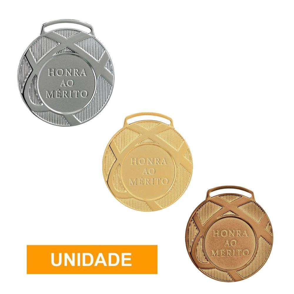 Medalha de Honra ao Mérito com Fita- 60001- Futebol / Volei / Artes Marciais - 60mm- Vitória