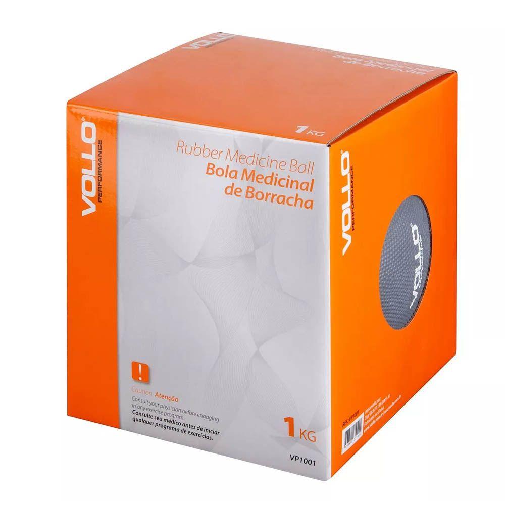 Medicine Ball para Artes Marciais / Treino Funcional / Fitness - 1KG - Vp1001 - Vollo  - Loja do Competidor