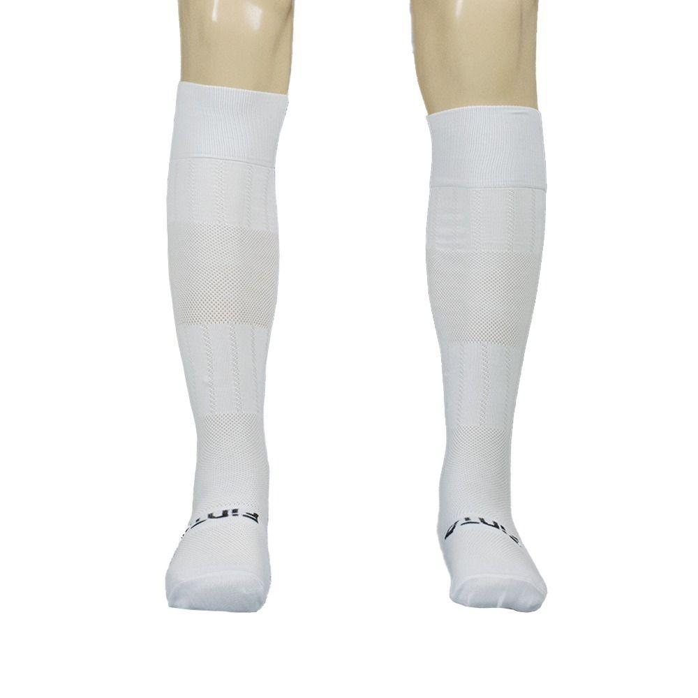 Meia Meião para Futebol / Futsal - Alcance - Juvenil - Branco/Preto - Finta