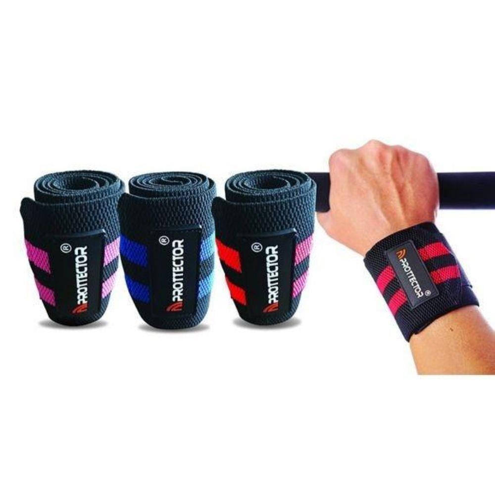 Munhequeira Elástica Stronger 80mm - Musculação/Crossfit - Par  - Loja do Competidor