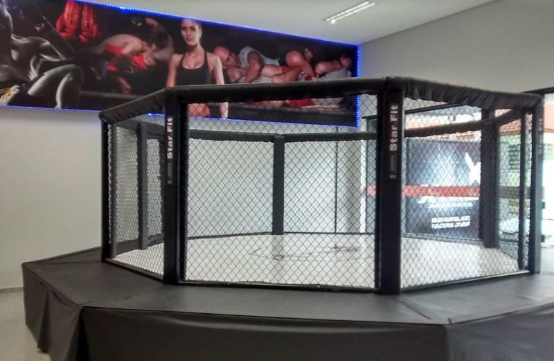 Octógono profissional para MMA - Solo / Plataforma / Estação - Fabricação sob Medida - FDR