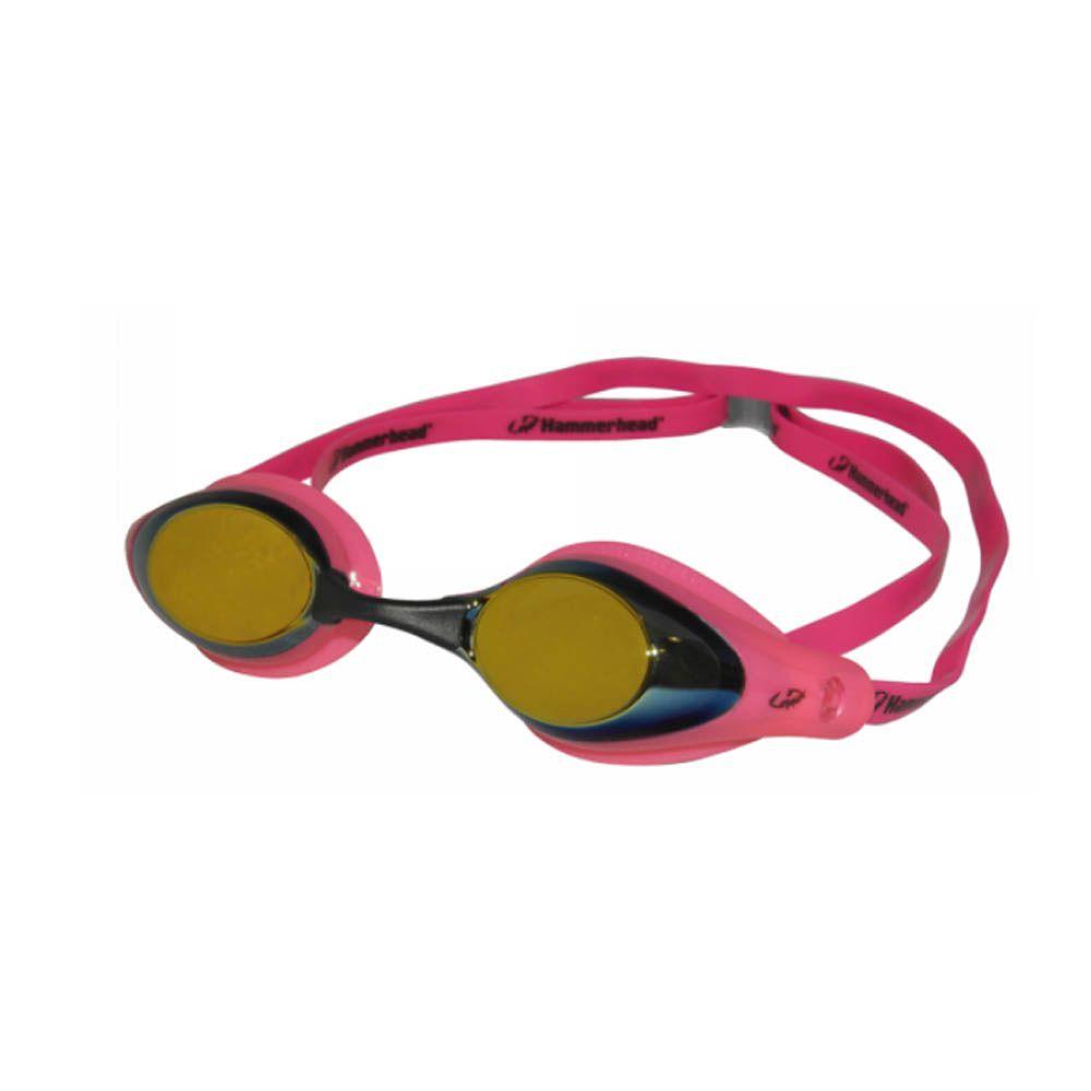 Óculos de Natação com Narigueira Racer Pro Mirror - Hammerhead - Unid