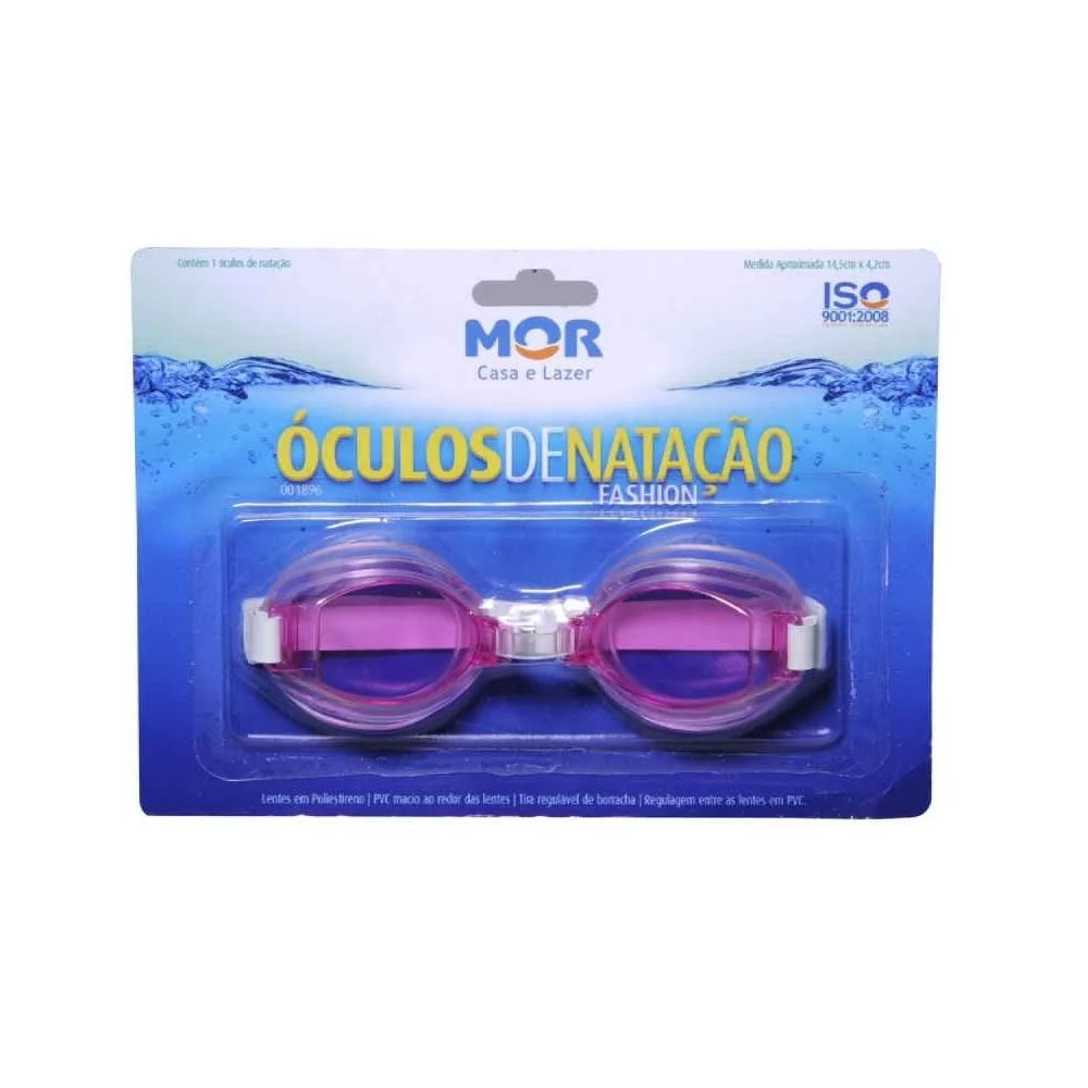 Óculos de Natação Fashion - Infantil - mod1896 -  MOR  - Loja do Competidor