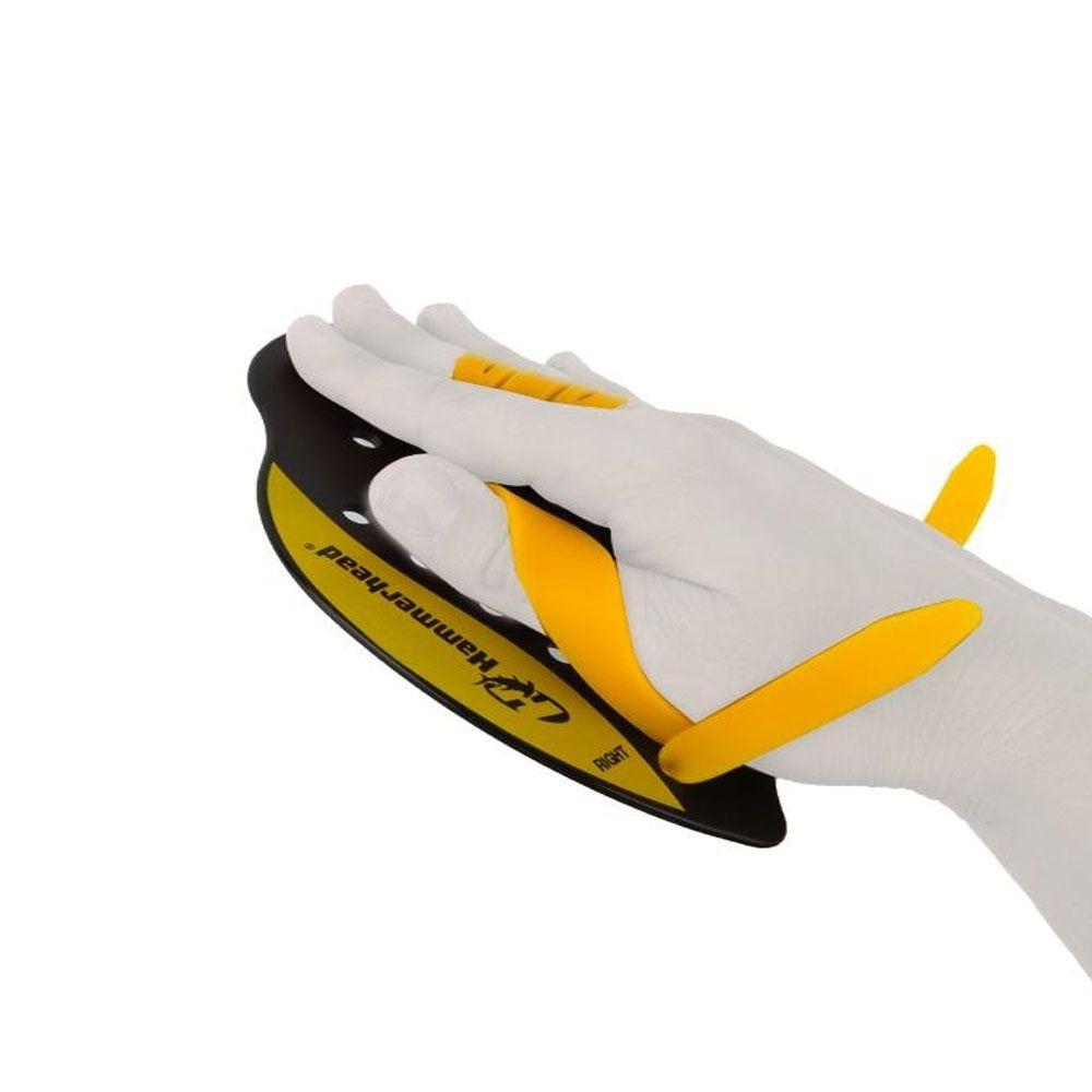 Palmar de Natação - Elite Hand Paddle - Preto/Amarelo - Hammerhead