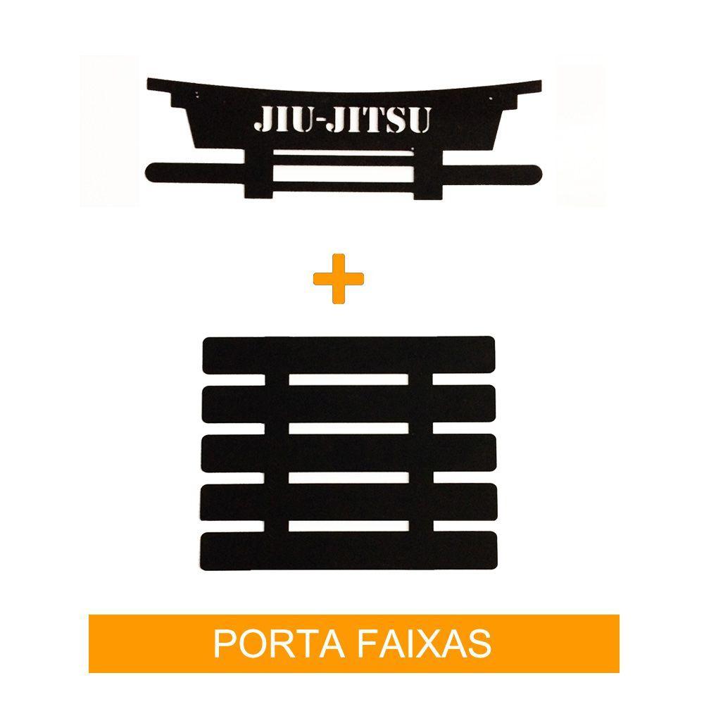 Porta Faixas Quadro Jiu Jitsu Adulto para 5 Faixas - Toriuk
