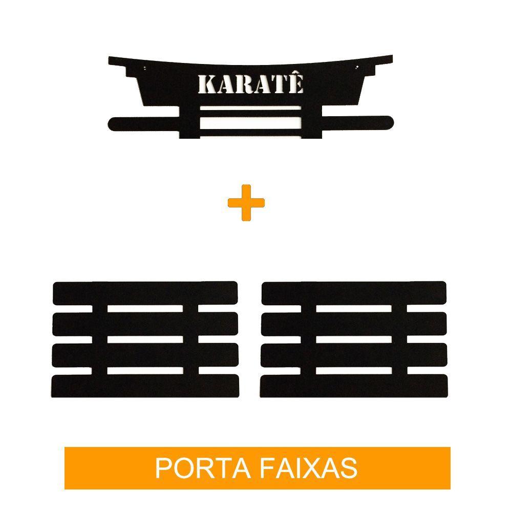 Porta Faixas para Karate - Infantil / Adulto - para 8 Faixas - Toriuk