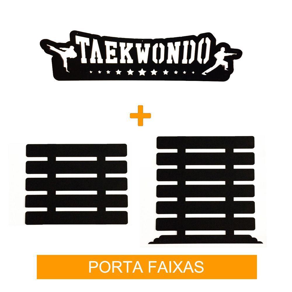 Porta Faixas para Taekwondo - Infantil / Adulto - ate 11 Faixas - Toriuk