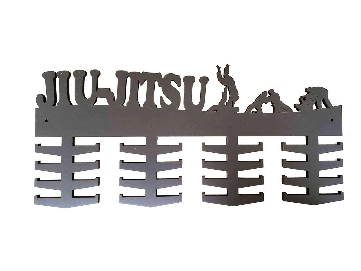 Porta Medalhas para Jiu Jitsu - 32 ganchos - Madeira 6mm - Toriuk