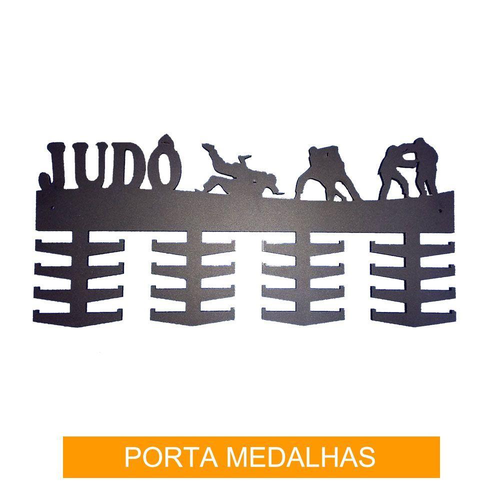 Porta Medalhas para Judo - 32 ganchos - Madeira 6mm - Toriuk