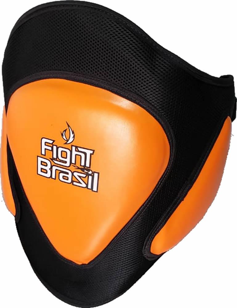 Protetor Abdominal Barrigueira Muay Thai - Laranja - Unid  - Loja do Competidor