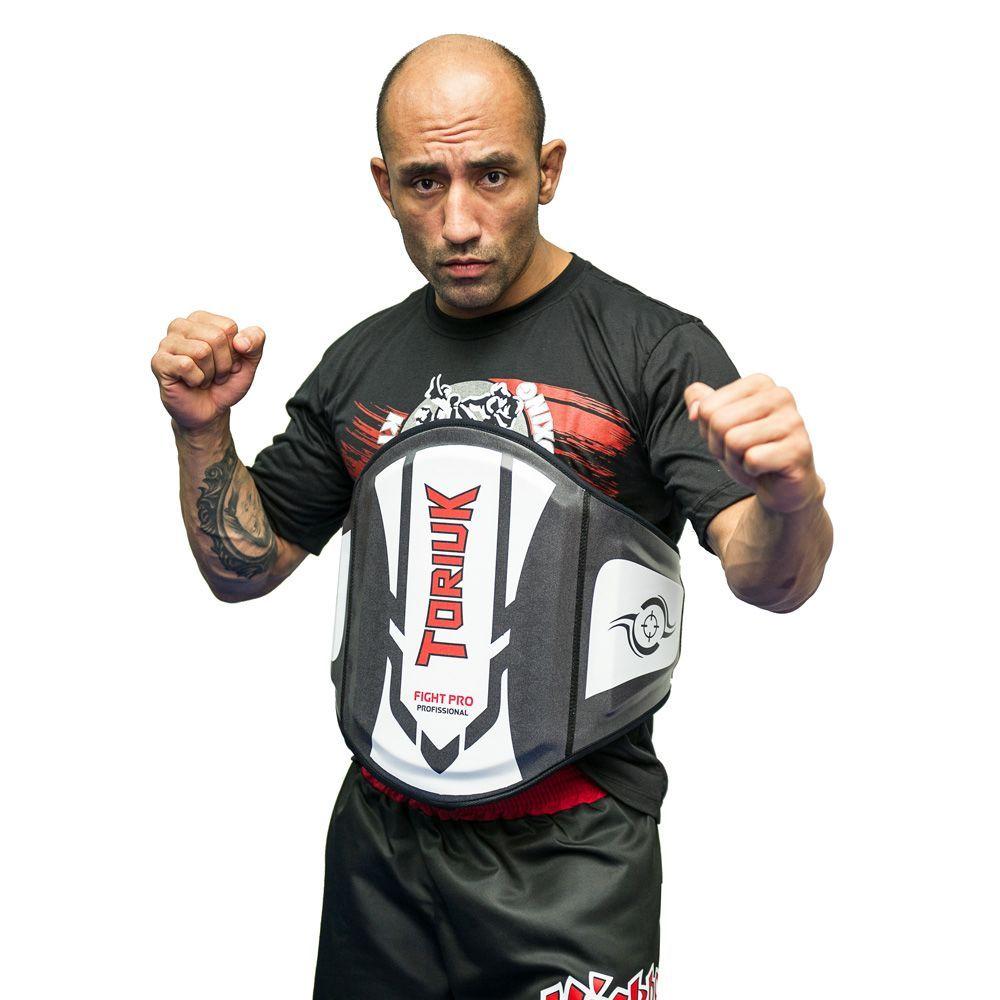 Protetor Abdominal Cinturão Muay Thai -  Centurion - Branco - Unid  - Loja do Competidor