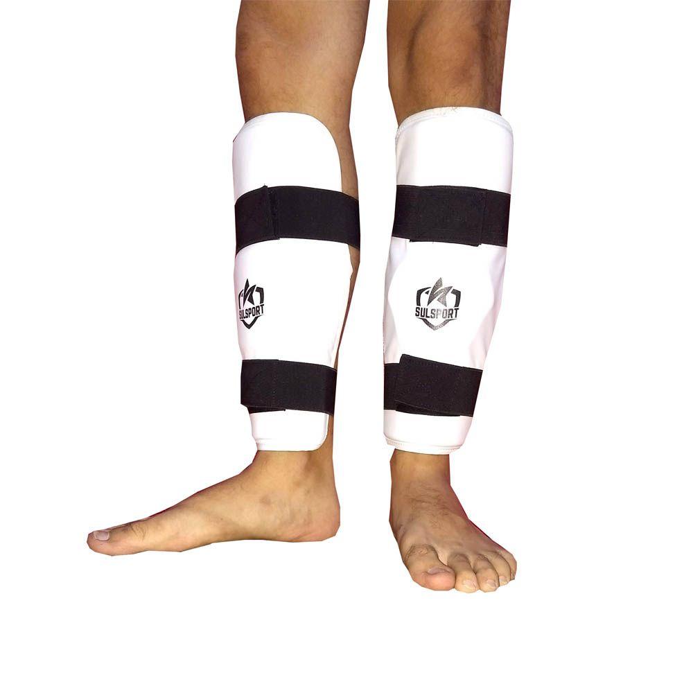 Protetor de Canela Caneleira sem Pé - Taekwondo - CBTKD - Sulsport