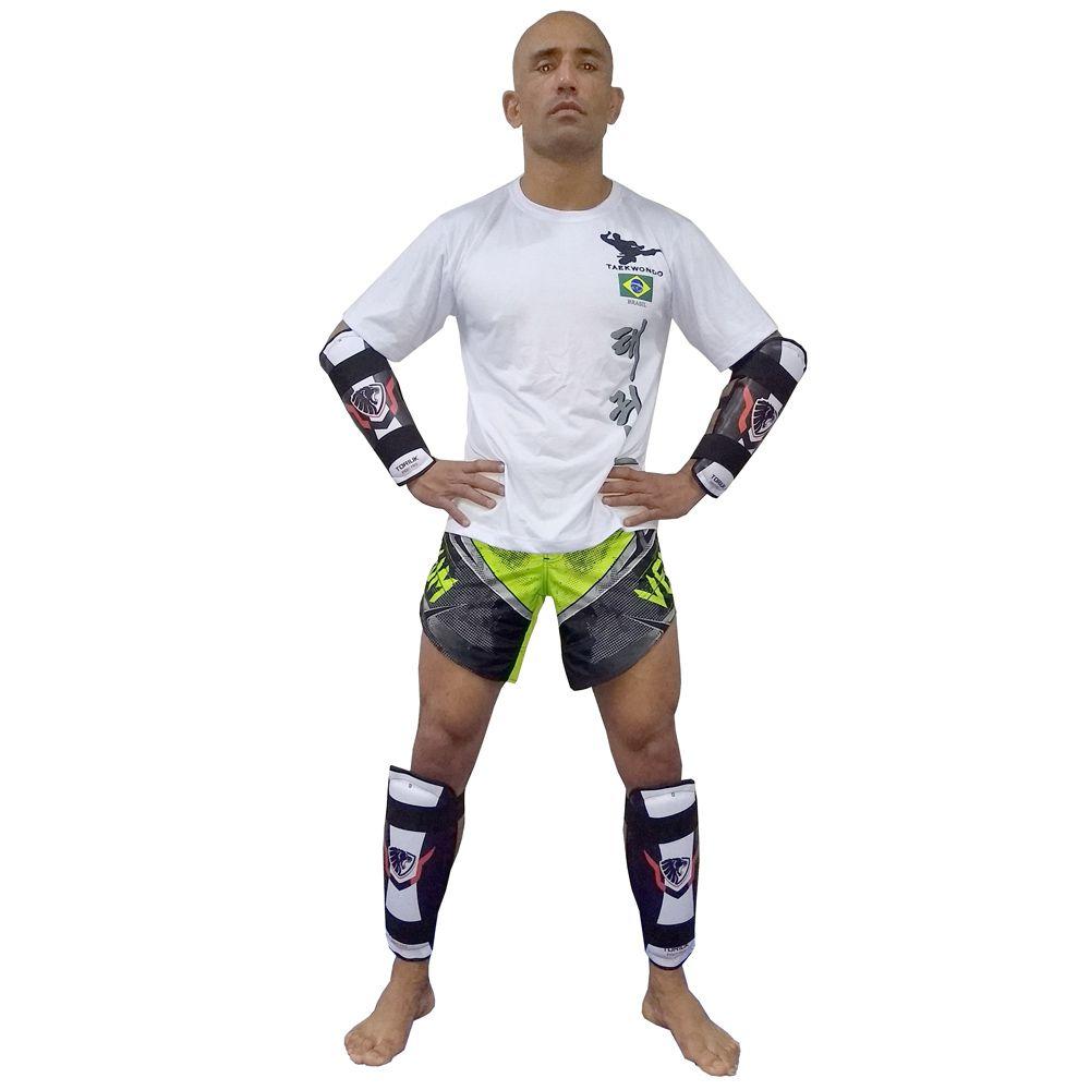 Protetor de Canela - Taekwondo/ Kung Fu/ Karate - sem pé - Lion-  Toriuk -  - Loja do Competidor