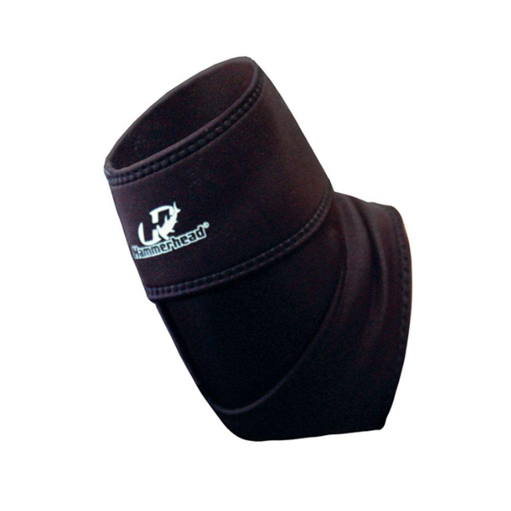 Protetor de Cotovelo Cotoveleira Ajustável - Neoprene - Preto - Par - Hammerhead
