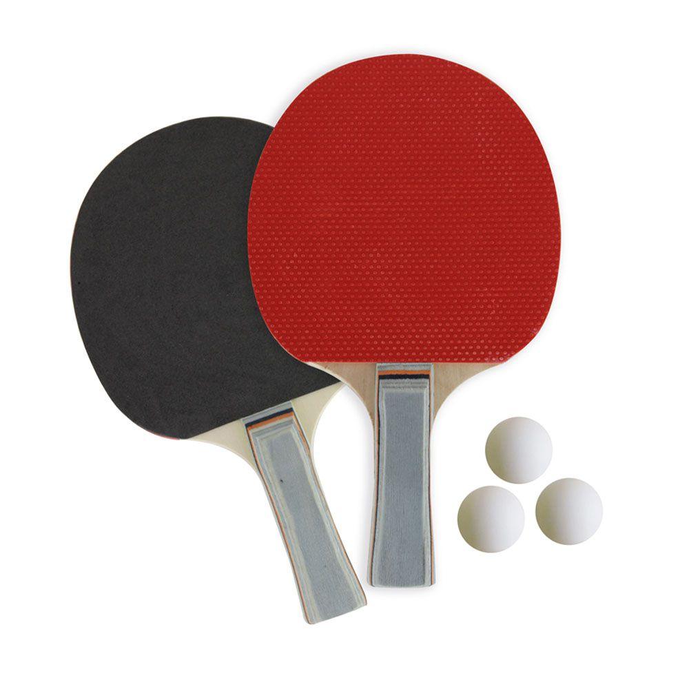 a6c0a14d7 Kit 2 Raquetes Tenis de Mesa Ping Pong com 3 Bolas - EVA - Profissional -