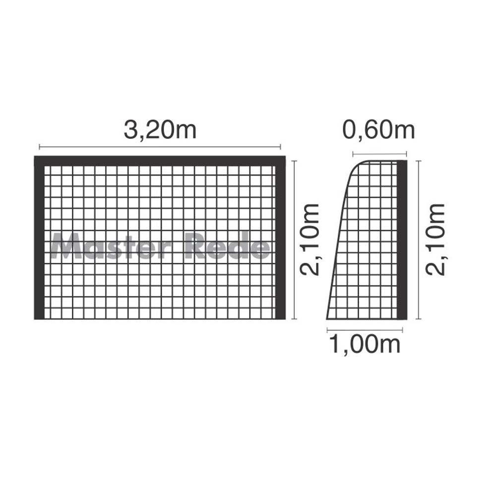 Rede Futebol de Salão Futsal - Fio 4 - FSL4 - Seda - Master  - Loja do Competidor