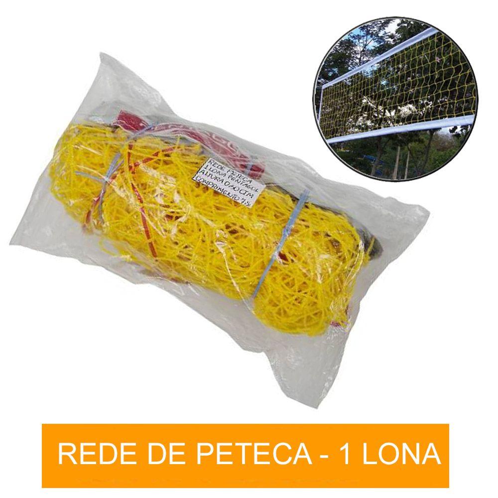 Rede para Peteca Areia ou Quadra - Reforcada - 1 Lona - Pentagol