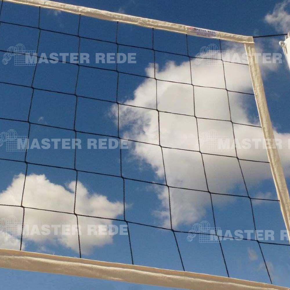 Rede Volei Quadra - Nylon - 4 Faixas Sintéticas - Master  - Loja do Competidor